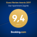 Star apartment Guest Review Awards 2017