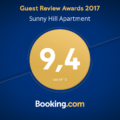 Sunny Hill apartment Guest Review Awards 2017
